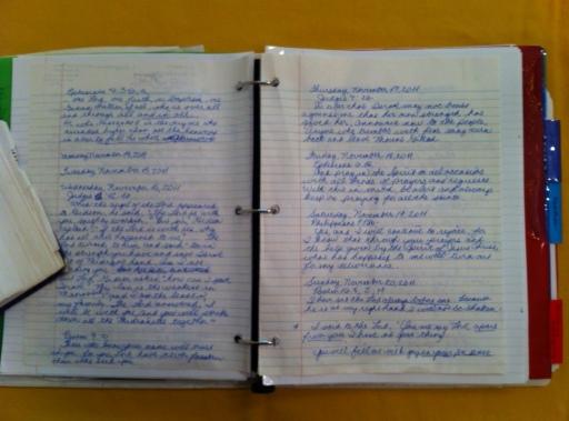 My prayer journal.